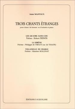 3 Chants Etranges - Anne Manteau - Partition - laflutedepan.com
