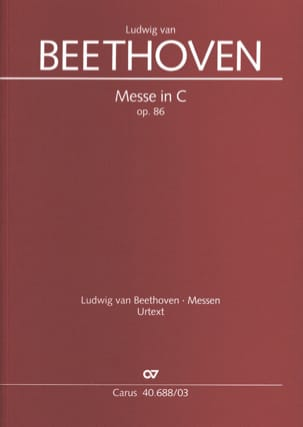 BEETHOVEN - Messa in Ut Opus 86 - Partitura - di-arezzo.it