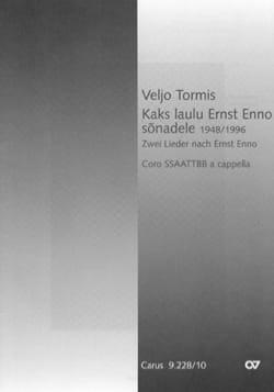 Veljo Tormis - Kaks laulu Ernst Enno sonadele - Partition - di-arezzo.com