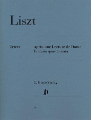 Franz Liszt - Après une Lecture de Dante - Partition - di-arezzo.fr