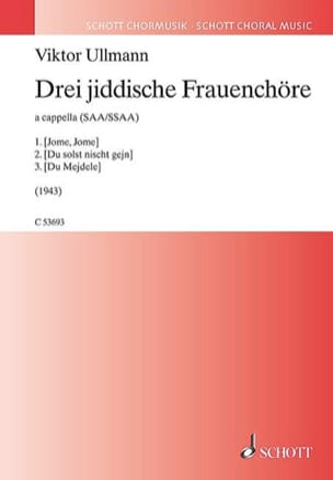 Viktor Ullmann - Drei Jiddische Frauenchöre - Sheet Music - di-arezzo.co.uk