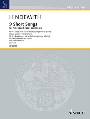 9 Short Songs - Paul Hindemith - Partition - Chœur - laflutedepan.com
