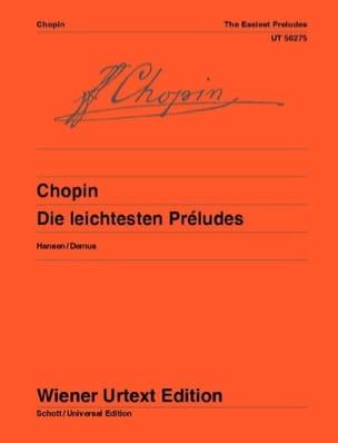 Die Leichtesten Preludes Opus 28 CHOPIN Partition Piano - laflutedepan
