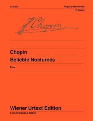 Célèbres Nocturnes CHOPIN Partition Piano - laflutedepan