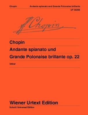 CHOPIN - Andante Spianato Und Grande Polonaise Brillante Opus 22 - Partition - di-arezzo.fr