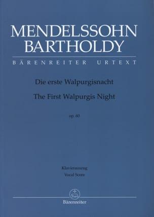 MENDELSSOHN - Die Erste Walpurgisnacht Opus 60 - Noten - di-arezzo.de
