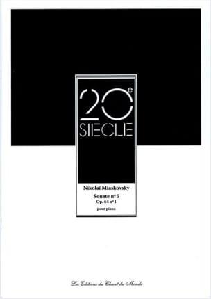 Sonate N° 5 Op. 64 N° 1 Nikolaï Miaskovsky Partition laflutedepan