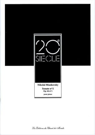 Nikolaï Miaskovsky - Sonate N° 5 Op. 64 N° 1 - Partition - di-arezzo.fr