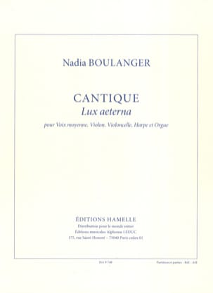 Nadia Boulanger - Lux Aeterna song - Sheet Music - di-arezzo.co.uk