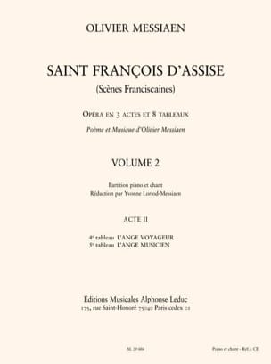 Olivier Messiaen - Saint François d'Assise (Volume 2 - Acte 2) - Partition - di-arezzo.fr