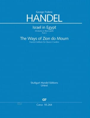 HAENDEL - The Ways Of Zion Do Mourn. Hwv 264 - Partition - di-arezzo.fr