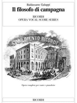 Baldassare Galuppi - Il Filosofo Di Campagna - Sheet Music - di-arezzo.co.uk