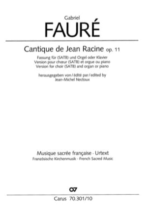 Gabriel Fauré - Song of John Racine op 11 - Sheet Music - di-arezzo.co.uk