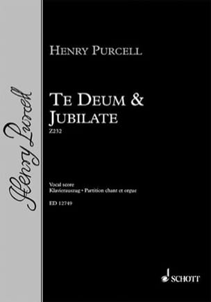 Te Deum et Jubilate Z 232 PURCELL Partition Chœur - laflutedepan