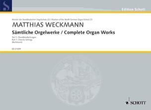 Matthias Weckmann - Sämtliche Orgelwerke Volume 1 - Sheet Music - di-arezzo.com