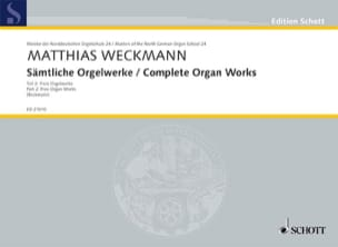 Matthias Weckmann - Sämtliche Orgelwerke Volume 2 - Partition - di-arezzo.fr