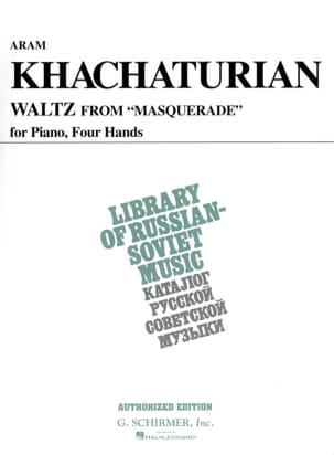 Valse. 4 mains KHATCHATURIAN Partition Piano - laflutedepan
