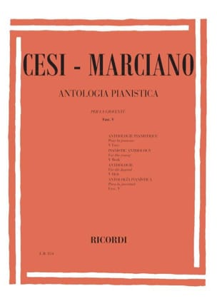 Anthologia Pianistica Vol 5 -Marciano Cesi - laflutedepan.com
