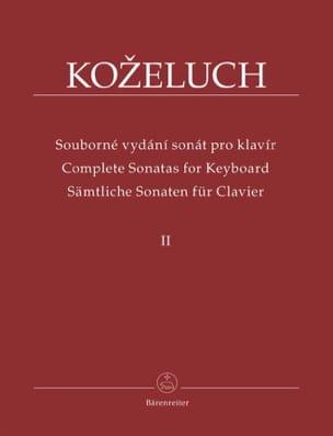 Leopold Antonin Kozeluch - Sonates Pour Clavier. Volume 2 - Partition - di-arezzo.fr