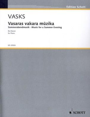 Vasaras Vakara Muzika Peteris Vasks Partition Piano - laflutedepan