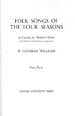 Folksongs Of The 4 Seasons - Williams Ralph Vaughan - laflutedepan.com