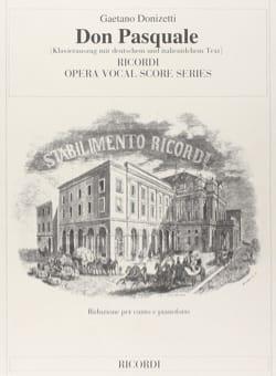 Gaetano Donizetti - Don Pasquale - Partition - di-arezzo.fr
