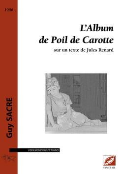 Guy Sacre - Poil de Carotte's album - Sheet Music - di-arezzo.co.uk