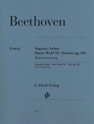 BEETHOVEN - Sopran-Arien. Duett Woo 93 . Terzett Op. 116 - Partition - di-arezzo.fr