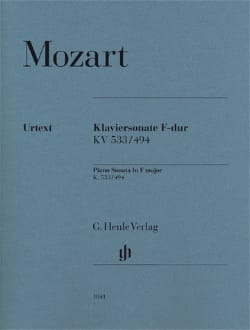 MOZART - Sonate Pour Piano En Fa Majeur K. 533/ 494 - Partition - di-arezzo.fr