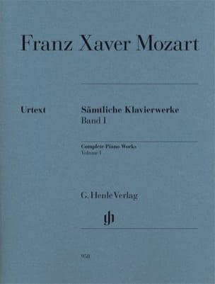 Franz-Xaver Mozart - Œuvres Complètes Pour Piano, Volume 1 - Partition - di-arezzo.fr