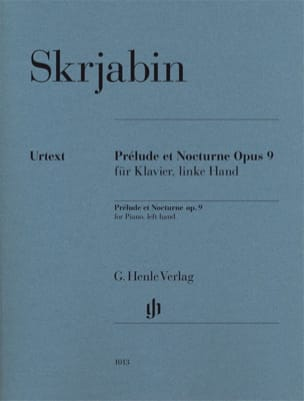 Alexander Scriabine - Prelude and Nocturne Opus 9 - Sheet Music - di-arezzo.co.uk
