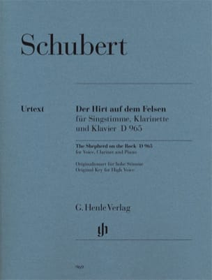 SCHUBERT - Der Hirt Auf Felsen Dem D 965 Opus Posth 129 - Sheet Music - di-arezzo.co.uk