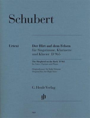 SCHUBERT - Der Hirt Auf Felsen Dem D 965 Opus Posth 129 - Partition - di-arezzo.jp