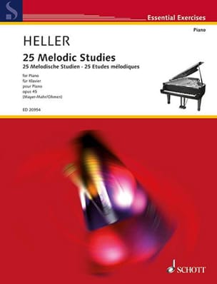 Stephen Heller - 25 Melodic Studies Op. 45 - Partition - di-arezzo.fr