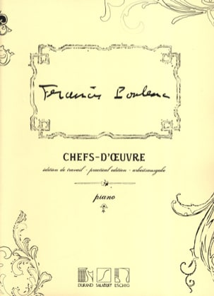 Francis Poulenc - Chefs-D'oeuvre - Partition - di-arezzo.fr