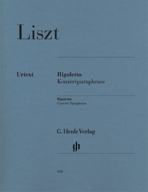 Franz Liszt - Rigoletto - Concert Paraphrase - Partition - di-arezzo.co.uk