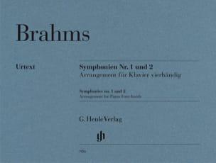 BRAHMS - Symphonies n° 1 et n° 2. 4 mains - Partition - di-arezzo.fr