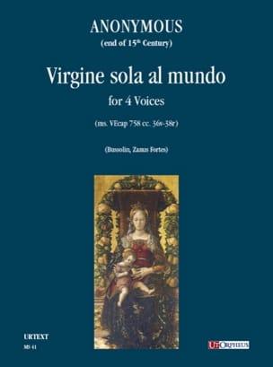 - Virgine Sola Al Mundo - Partition - di-arezzo.fr