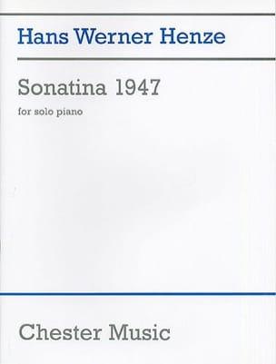 Sonatina 1947 - Hans Werner Henze - Partition - laflutedepan.com