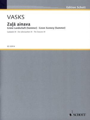 Zala Ainava Peteris Vasks Partition Piano - laflutedepan