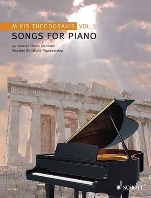Songs For Piano Volume 1 - Mikis Theodorakis - laflutedepan.com