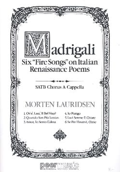 Morten Lauridsen - Madrigali - Sheet Music - di-arezzo.co.uk