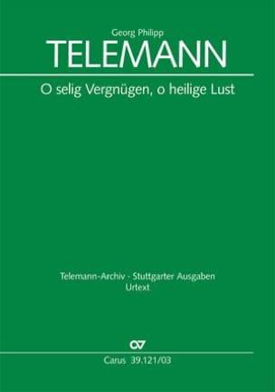O Selig Vergnügen, O Heilige Lust Tvwv 1.1212 - laflutedepan.com
