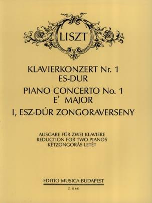Concerto N°1 En Mi Bémol Majeur Franz Liszt Partition laflutedepan
