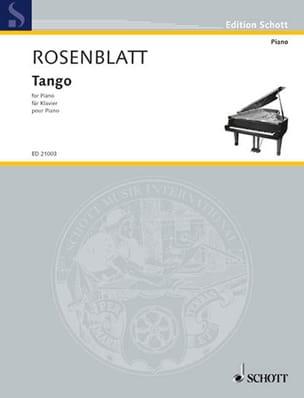Tango Alexander Rosenblatt Partition Piano - laflutedepan