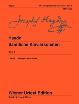 HAYDN - Piano Sonatas Volume 3. New Edition - Sheet Music - di-arezzo.com