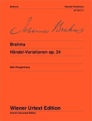 Johannes Brahms - Haendel-Variationen, Op. 24 - Partition - di-arezzo.fr