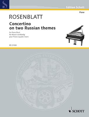 Concertino On Two Russian Themes. 4 mains - laflutedepan.com