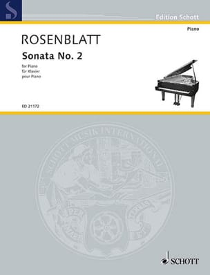 Sonata N°. 2 Alexander Rosenblatt Partition Piano - laflutedepan