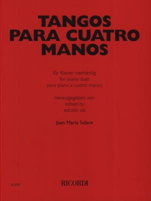 Tangos Para Cuatro Manos - Sheet Music - di-arezzo.co.uk